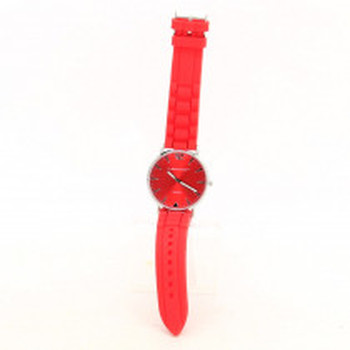 Silikonové hodinky Dunlop červené
