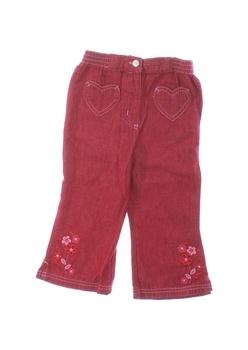Dětské plátěné kalhoty Adams červené