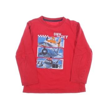 Dívčí tričko Disney červené s potiskem