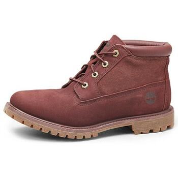 Dámské kotníčkové boty Timberland vínové