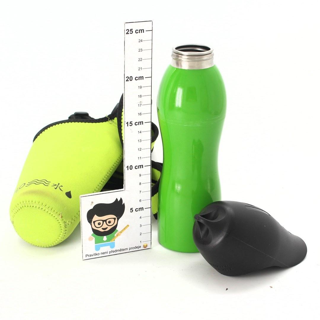 Cestovní láhev H2O4K9 zelená