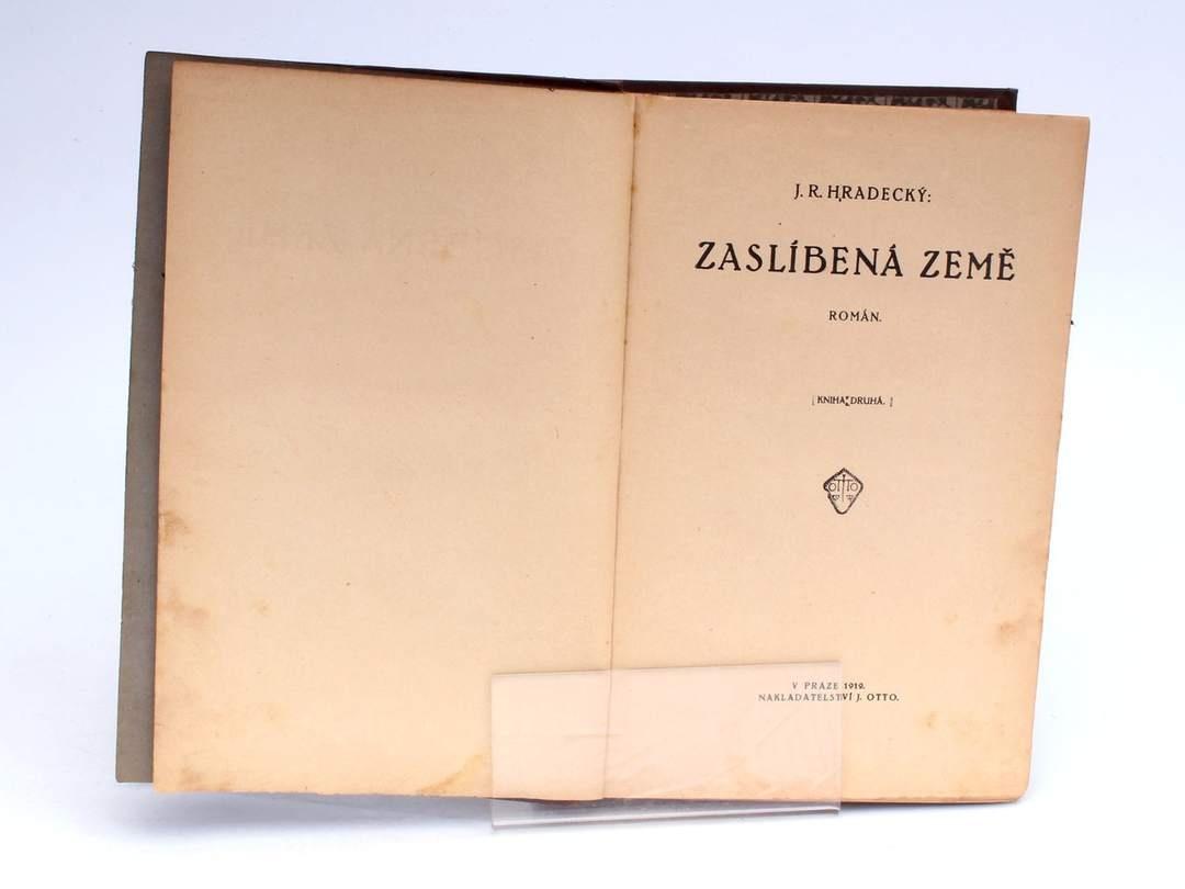 Kniha Zaslíbená země J. R. Hradecký