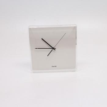 Analogové hodiny Kartell bílé