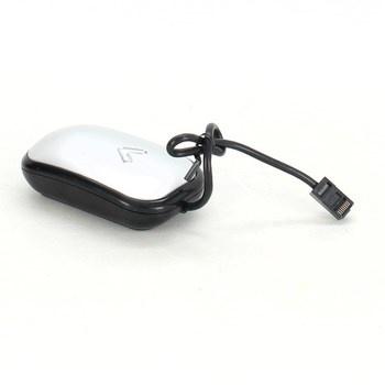 Kabelová myš stříbrno černá