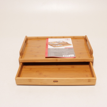 Dřevěný podnos Zeller se zásuvkou 25379