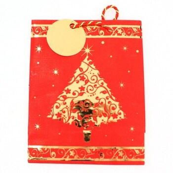 Dárková vánoční taška červená