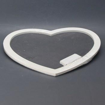 Dekorace na zavěšení - srdce Mopec W217