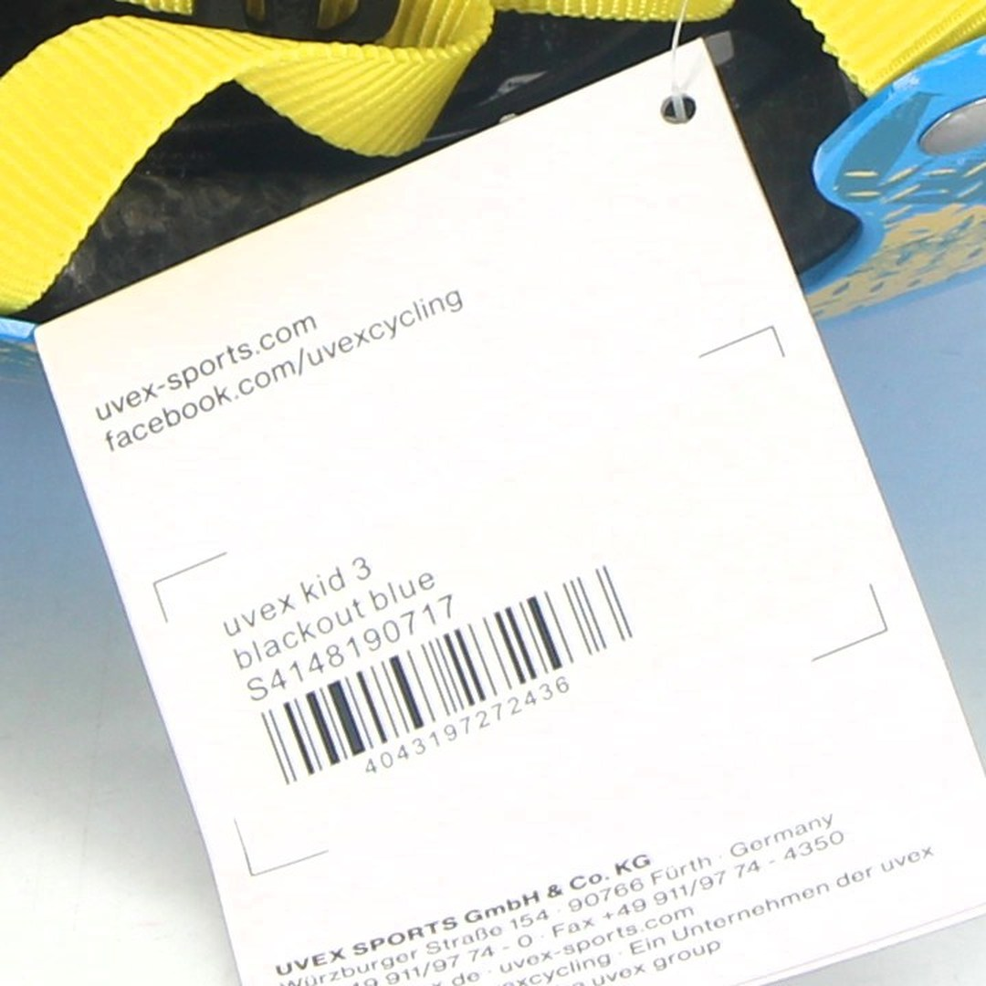 Dětská helma Uvex Kid 3 modrožlutá, 55-58 cm