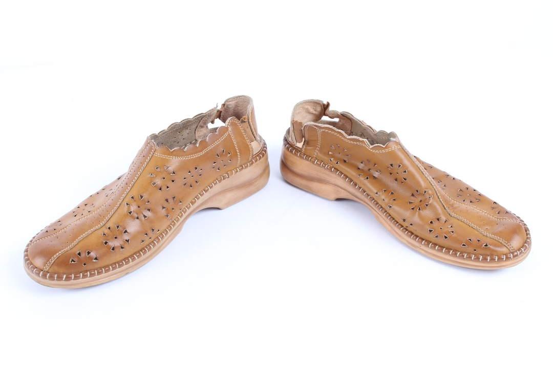Dámské kožené sandále Steiner hnědé