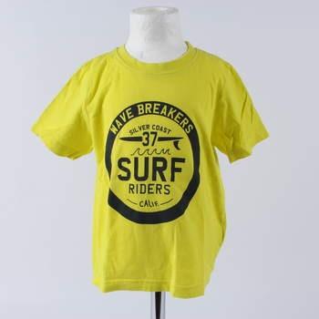 2cb89528040 Dětské tričko Lupilu odstín žluté s potiskem