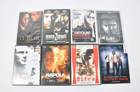 8x DVD film - Super Mag, Šifra a další