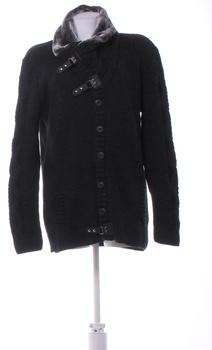 Pánský svetr s knoflíky Carisma černý XL