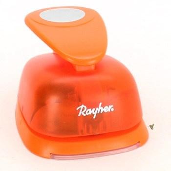 Děrovačka značky Rayher oranžové barvy