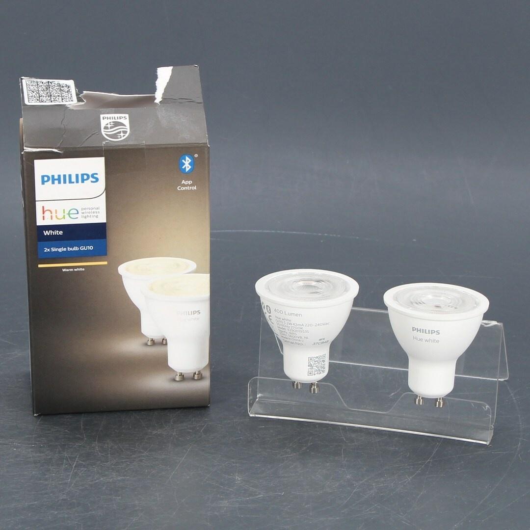 LED žárovky Philips Hue GU10 White 5,2W 2 ks