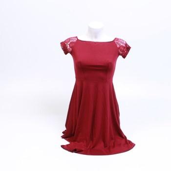 Dámské šaty Yoyaker vínové