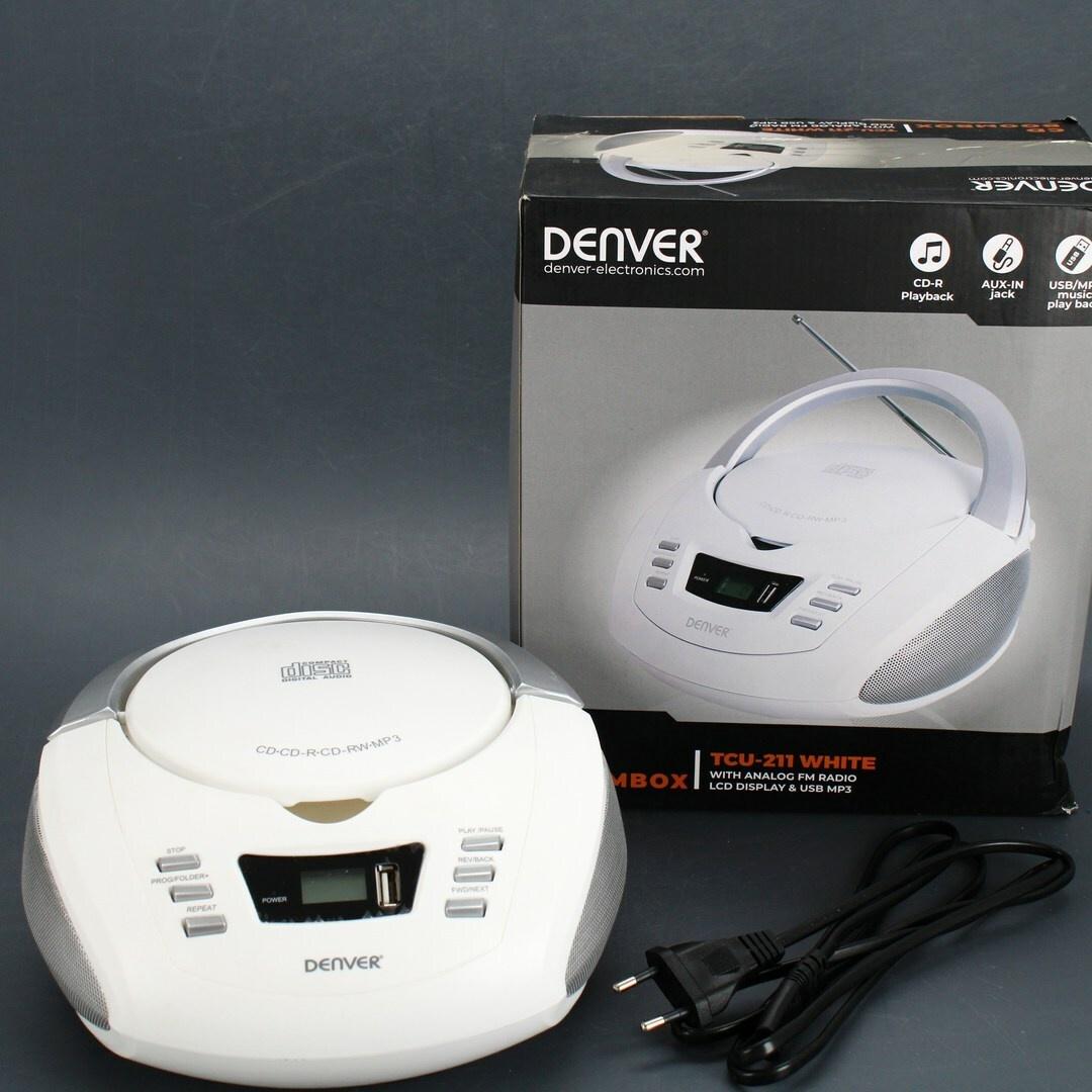 Rádio s CD přehrávačem Denver TCU-211 bílé