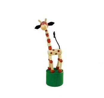 Dřevěná hračka Detoa Žirafa přírodní
