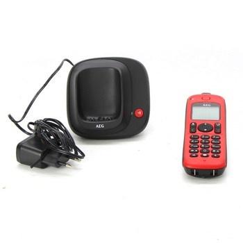 Bezdrátový telefon AEG Lloyd Combo 15 red