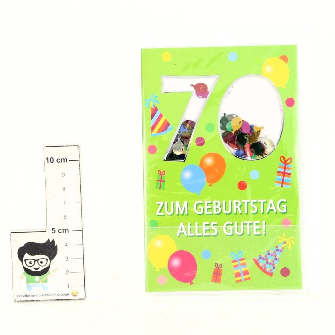 Přání k 70. narozeninám otevírací