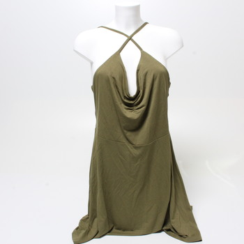 Dámské šaty United Colors of benetton khaki