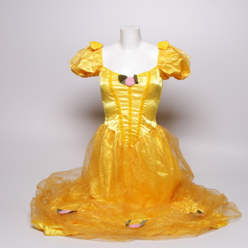 Princeznovské šaty žluté s čelenkou