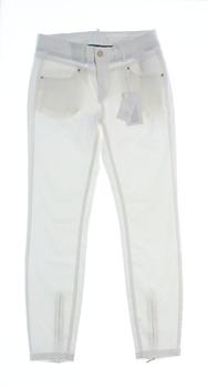 Dámské džíny Vila bílé barvy