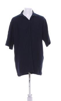 Pánské tričko s límečkem tmavě modré