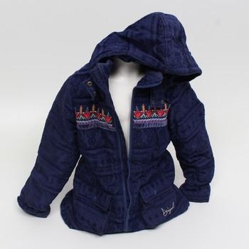 Dívčí kabát Desigual Chaq_Pitaya tm. modrý