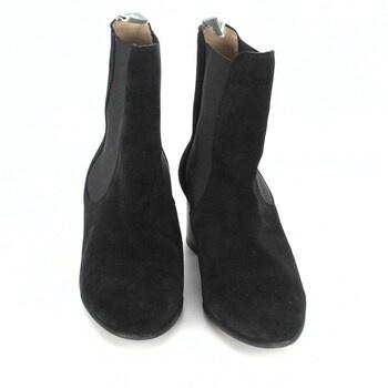 Dámské kozačky nízké černé velikost 38