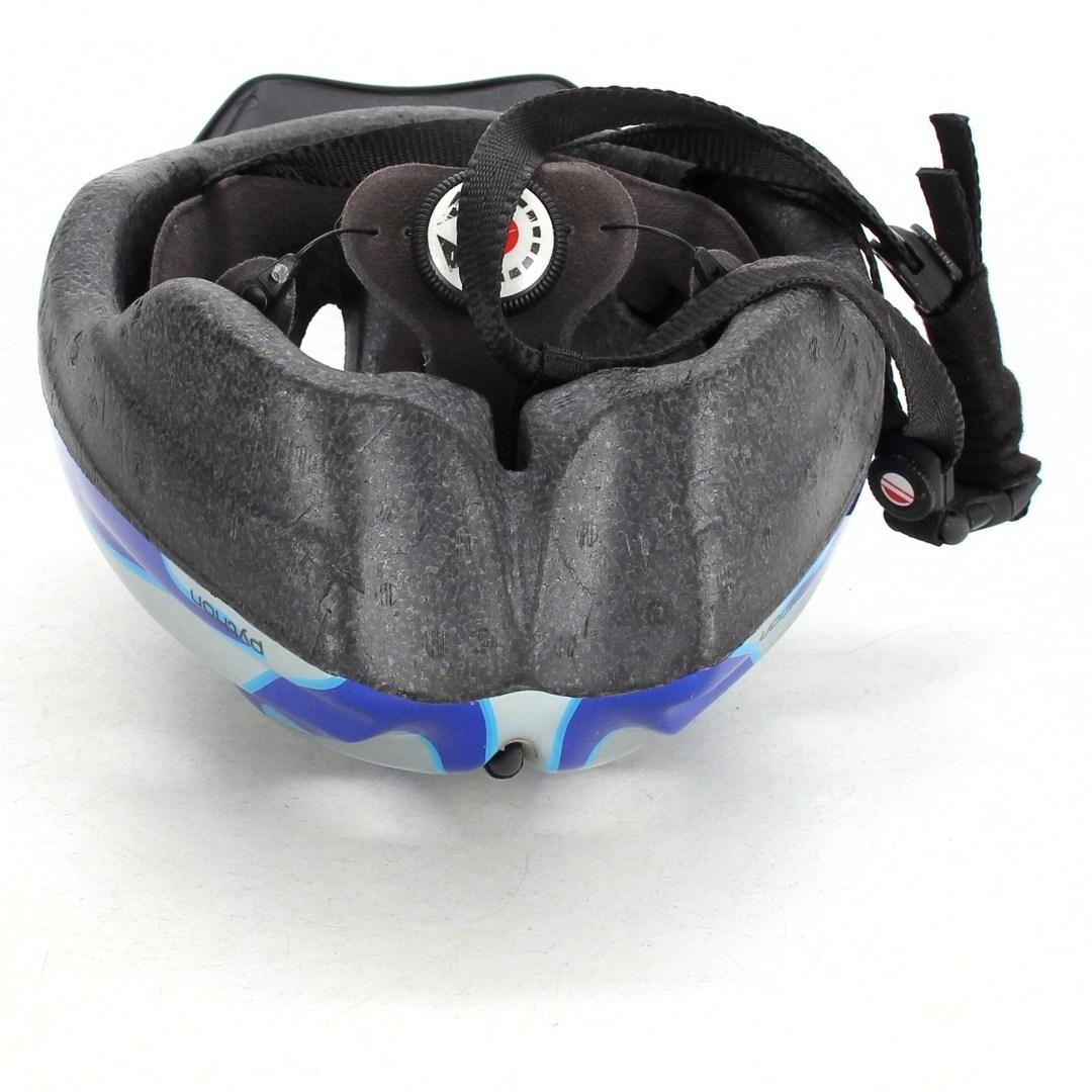 Cyklistická helma Casco Python modrobílá
