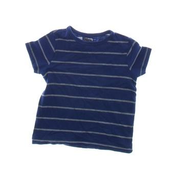 Dětské tričko F&F modré s šedými proužky