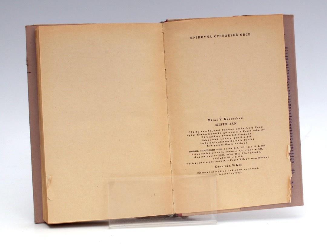 Kniha Mistr Jan