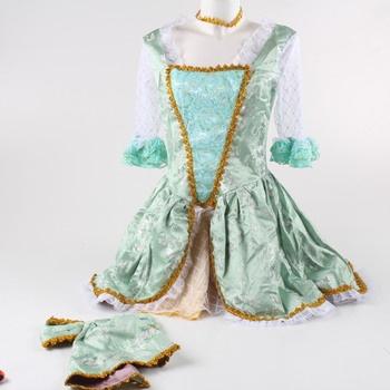 Princeznovské šaty zelené