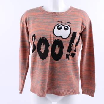 Dámský svetr Pull & Bear oranžovo šedý