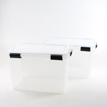 Sada 2 ks plastových boxů Iris 135455