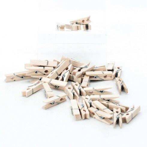 Kolíčky na prádlo dřevěné 196 ks