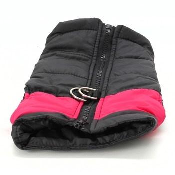 Růžovo černá bunda pro psy