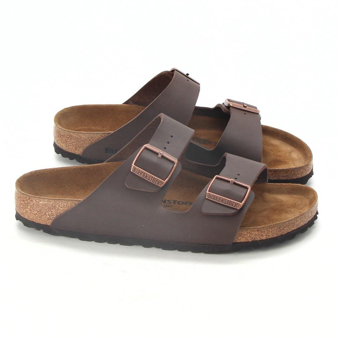 Pánské pantofle Birkenstock Arizona hnědé 42