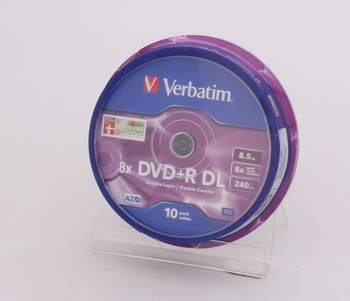 DVD+R Verbatim DL 8x 8,5GB spindl 10ks