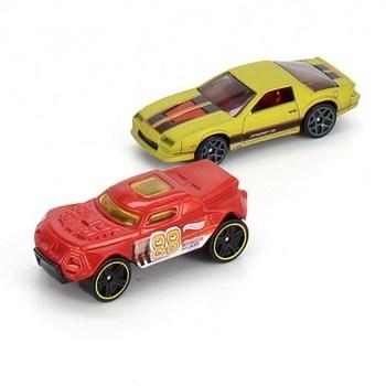 Autíčka Hot Wheels 2ks zlaté a červené