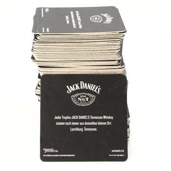 Papírové tácky pod pivo Jack Daniels 100 ks
