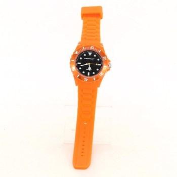 Silikonové hodinky Dunlop oranžové