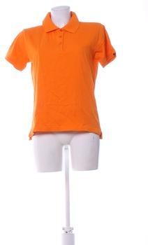 Dámské tričko Lambeste oranžové s límečkem