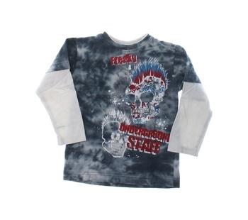 Chlapecké tričko Okay s lebkami šedé