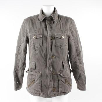 Dámská bunda s výšivkou barva khaki c8225bf4d32
