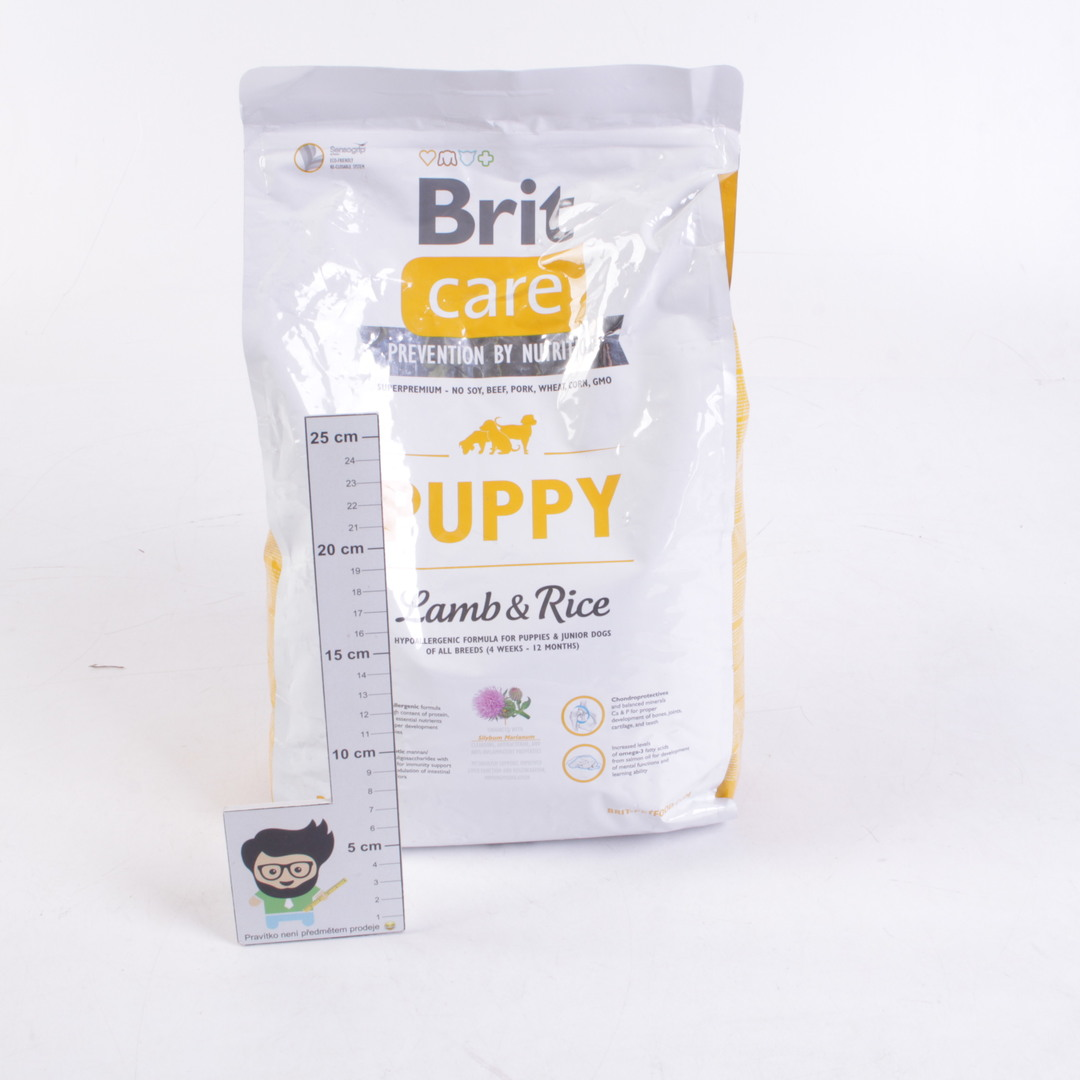 Granule pro psy BRIT Puppy, jehněcí s rýží