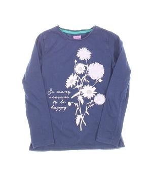 Dívčí tričko F&F modré s růžovým vzorem