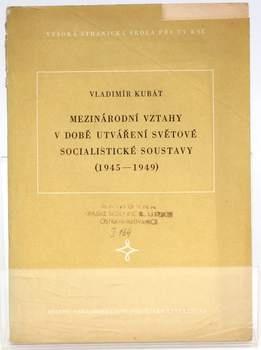 Brožura Vladimír Kubát: Mezinárodní vztahy