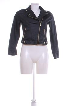 Dámská bunda se šikmým zipem H&M černá