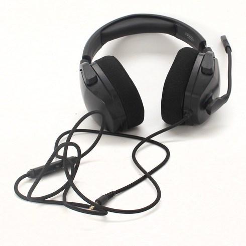 Černá herní sluchátka NUBWO